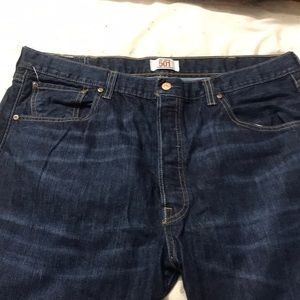 Levi's Jeans - Levi's Straight 501 Button Fly Dark Denim 40 x 32